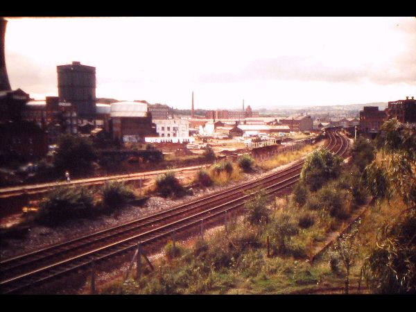 Portwood = Looking west, this is the site of the new S:Park development adjacent to Portwood Roundabout.